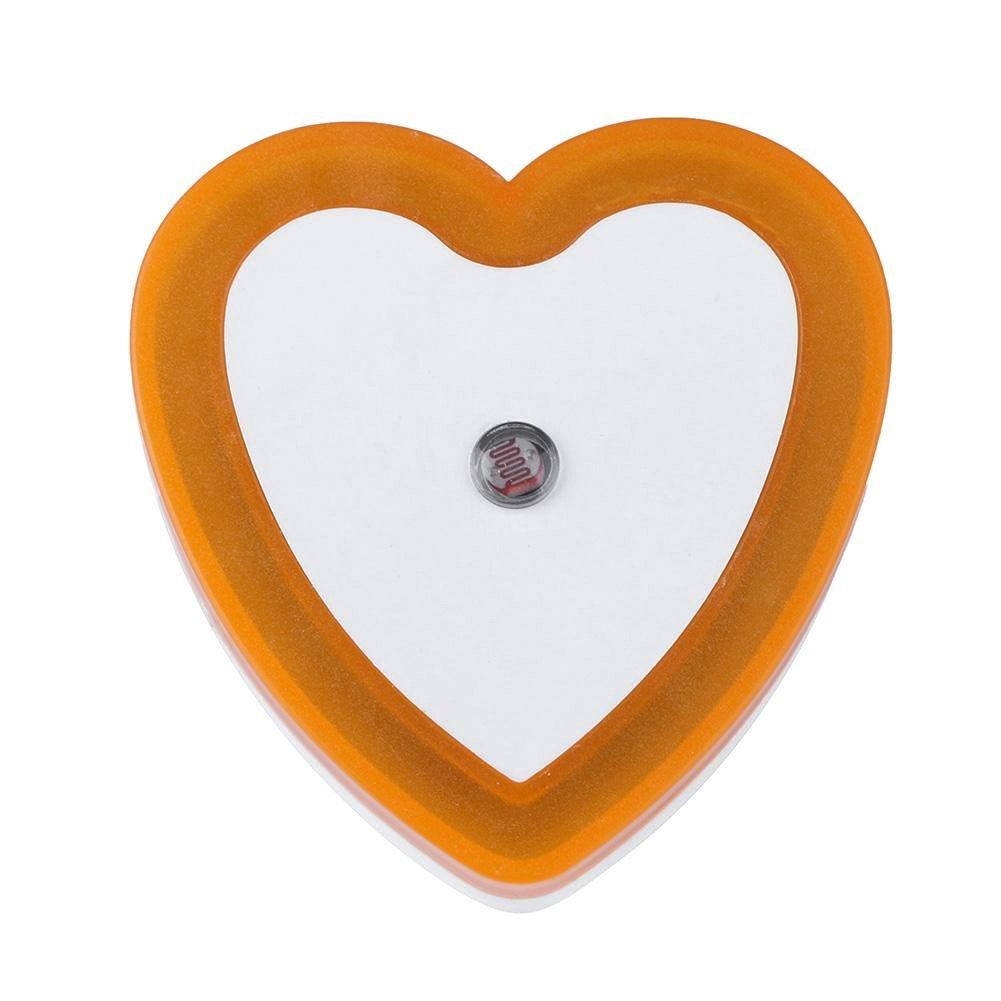 alloet Mini Novelty Heart Sensor Night Bedroom Lamp Baby Gift Decor Light(Yellow)