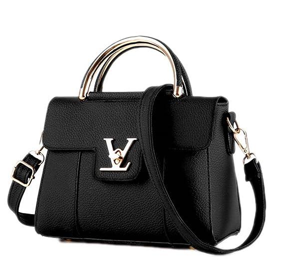 Amazon.com  Fake Designer Bags V Women s Luxury Leather Clutch Bag Ladies  Handbags Brand Women Messenger Bags Sac A Main Femme Handle 1  Clothing db25cb0b8be
