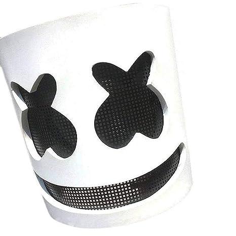 maschera marshmello dj  LBAFS Marshmello DJ Mask Full Head Helmet Halloween Cosplay Maschera ...