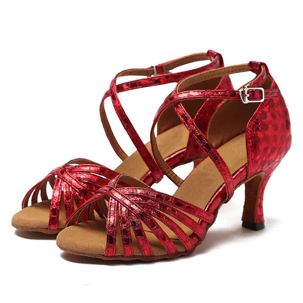 HIPPOSEUS Womens Standard Latin Dance Shoes,Heel Height 5CM//7CM Model WH001