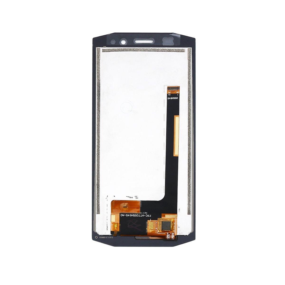 Color Negro 5,5 Pulgadas, LCD, con Herramientas YHX-OU Pantalla t/áctil de Repuesto para Blackview BV5800 BV5800 Pro