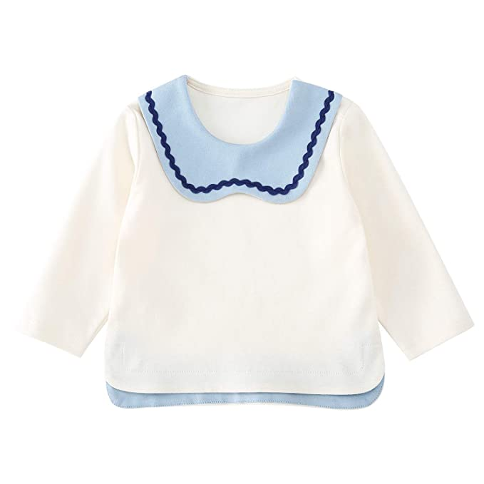 38bcf82c27c1 Amazon.com  pureborn Baby Girls Cotton Basic Long Sleeve T Shirt ...