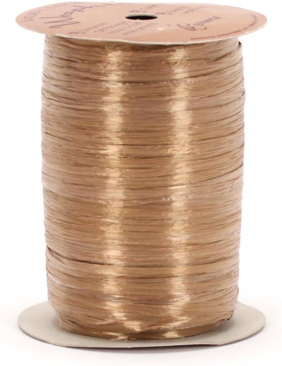 100 Yards Berwick Offray Gold Pearlized Raffia Ribbon 1//4 Wide