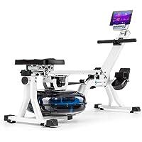 Capital Sports Flow - Máquina de Remo de Agua, Banco de Remo, 80 cm de Largo, Ordenador con Pantalla LCD, Soporte para…