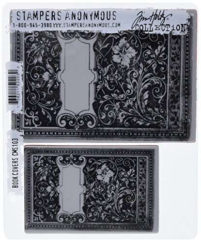 Sewing Book Covers (Stampers Anonymous Tim Holtz Cling Rubber Stamp Set, Book)