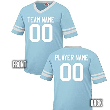8296ed3b9a7 Design Online Fan Wear Custom Football Jersey Adult 2X-Large in Aqua and  White