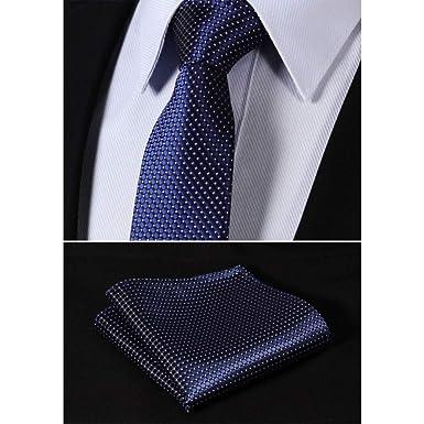 CDBGPZLD Seda Corbata Set Rosa Azul marino 100% seda tejida ...