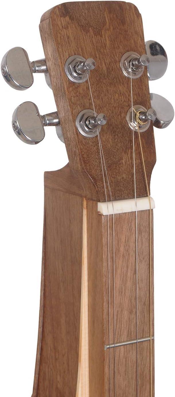 Muzikkon dulcimer Appalachian Dulcimer da montagna a 4 corde con fori a F in noce