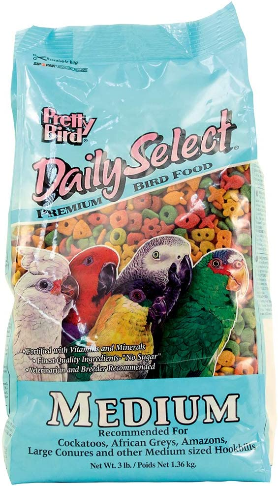 Pretty Bird International Bpb79117 20-Pound Daily Select Premium Bird Food, Medium
