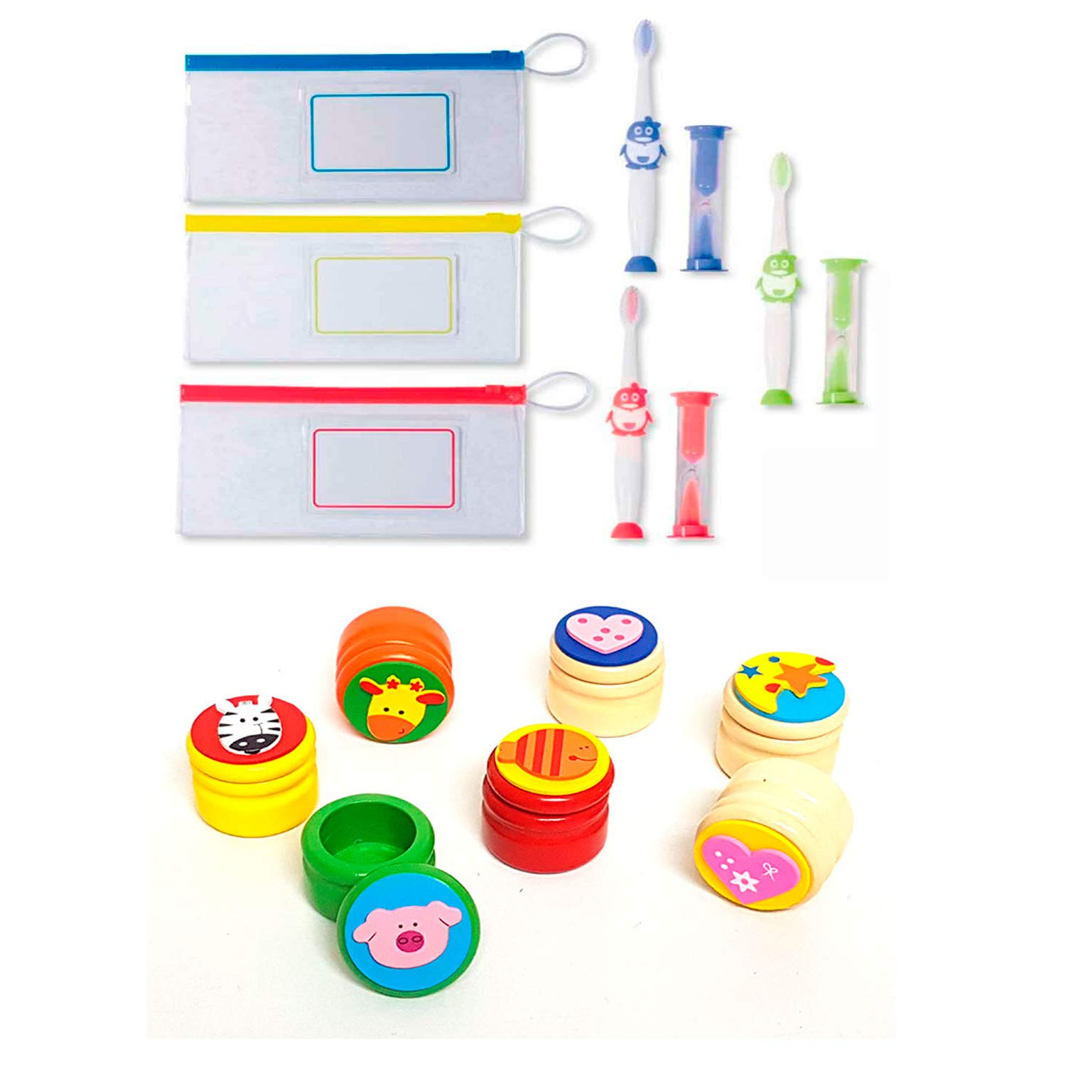 THE COLLECTION Lote de 12 Sets Cepillo de Dientes Infantil con ...