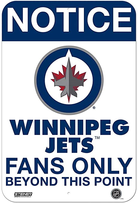 info for aba4c 3ba18 Winnipeg Jets Fans Only 8x12 Aluminum Sign at Amazon's ...