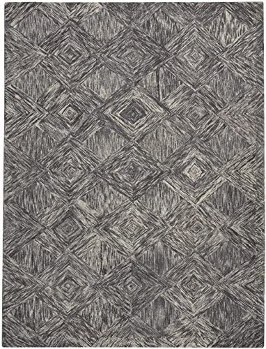 Nourison Linked Modern Contemporary Area Rug, 8 x10 6, CHARCOAL