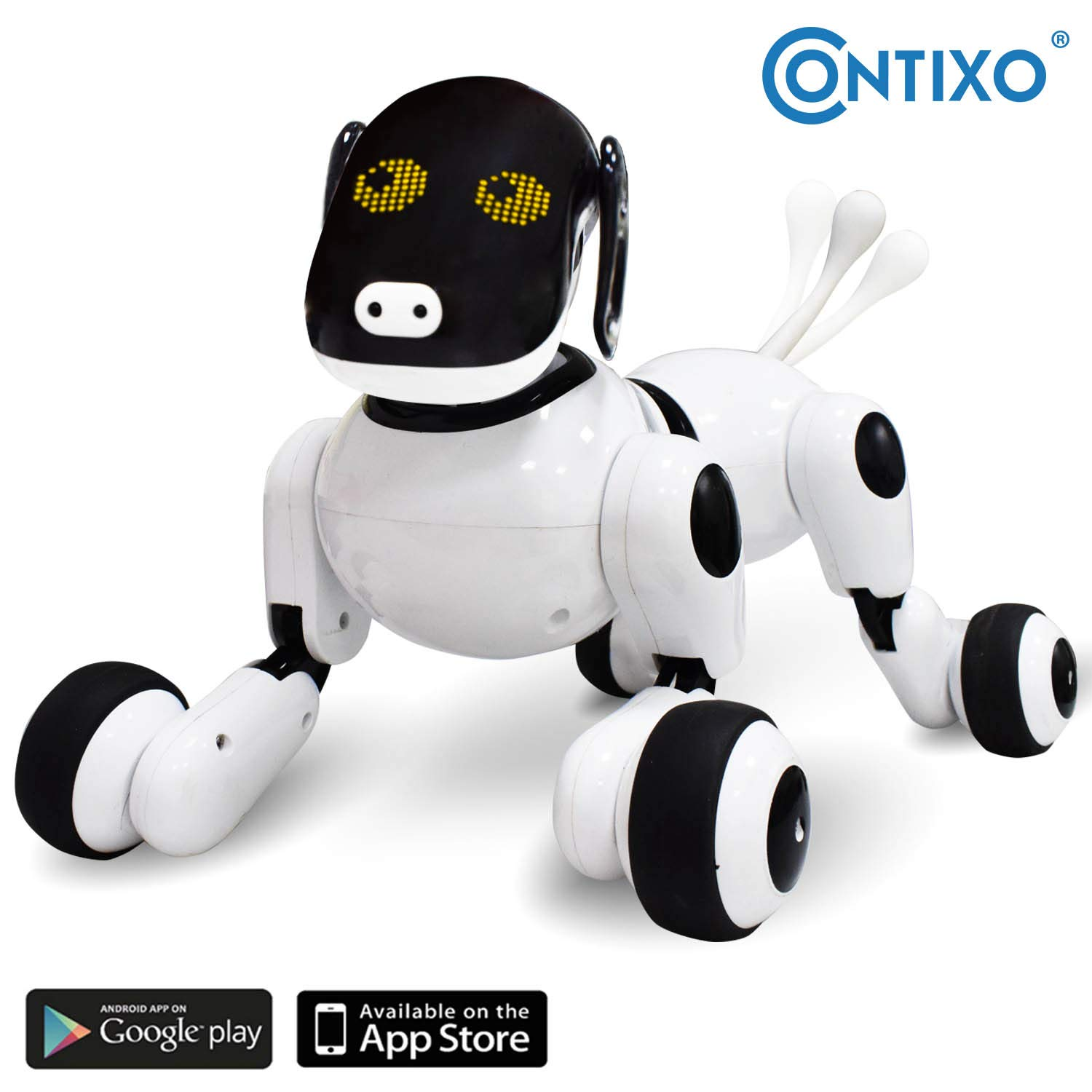 Contixo Independance Day Puppy Smart Interactive Robot Pet Toy for Kids, Voice, App, and Touch Controlled by Contixo (Image #1)