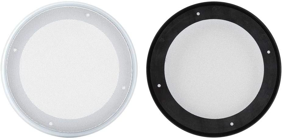 Wendry Speaker Cover Car Speaker Covers 6.5//8 Inch Speaker Grille Car Audio Anti-Collision Speaker Grill Cover Speaker Cover Decorative Circle Metal Mesh 8 Inch 2PCS