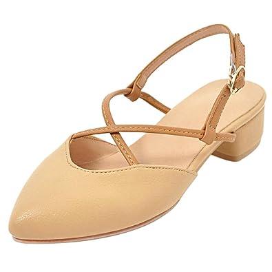 TAOFFEN Damen Schuhe Geschlossene Sandalen