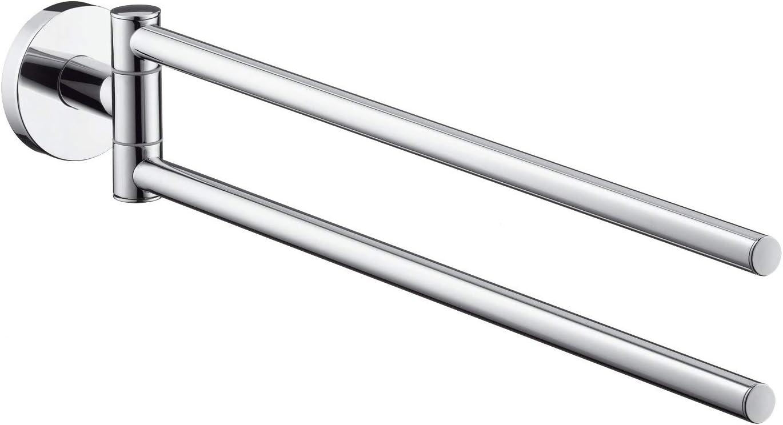 hansgrohe Dual Towel Bar Upgrade 2-inch Modern Towel Bar in Brushed Nickel, 40512820