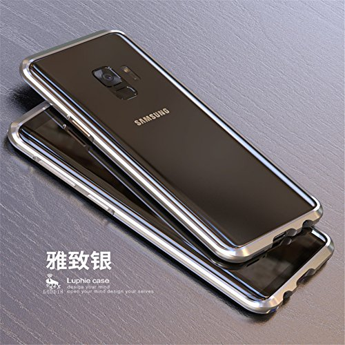 Aluminum Alloy Frame - Samsung Galaxy S9 Case, LWGON 3D Curved Surface CNC Aviation Aluminum Alloy Metal Bumper Frame Cover for Samsung Galaxy S9 (silve)