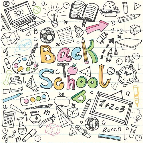 OFILA Back to School Backdrop 5x5ft School Events Photography Background Nursery School Photos Students School Day Party Background Digital Video Props