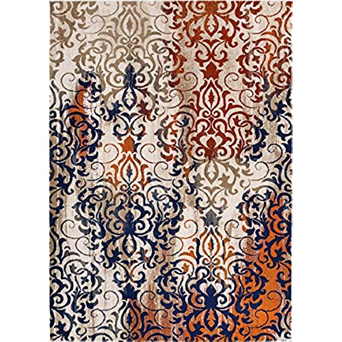 Floral Damask Area Rug: Shabby Chic Area Rugs: Amazon.com