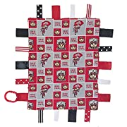 Future Tailgater Ohio State Buckeyes Baby Sensory Tag Lovey Blanket