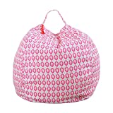 DeFancy Stuffed Animal Storage Bag Kid's Bean Bag Chair (YCK13, 32 Inches)