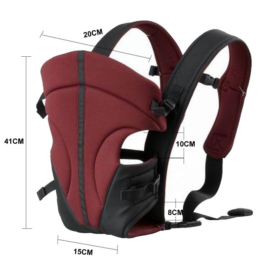 Ecosusi Babytrage 100/% Polyester Bauch und H/üfttrage 3.6-9.1 kg