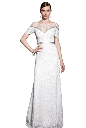 Coniefox Womens Beaded Elegant Long Dresses ...
