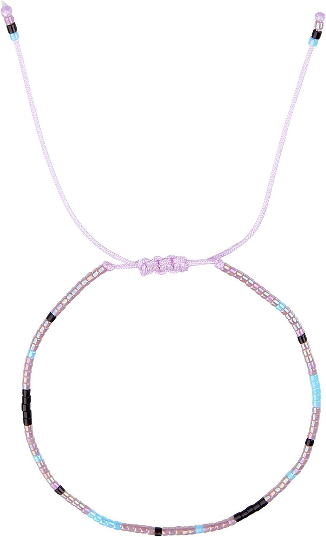 Boho ethnique multicolore Fabriqu/é par Nami Lot de 3 cha/înes de cheville pour femme Bracelet de cheville festival Lot de 3 perles multicolores