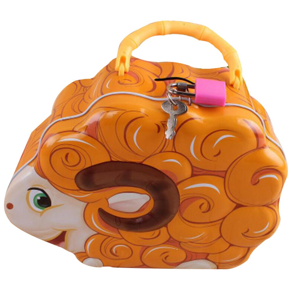George Jimmy Sheep Coin Holder Coin Collecting Coin Purse Money Bag Cash Box Gift for Kids