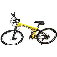 PedalEase Military Folding Mountain Bike - Yellow