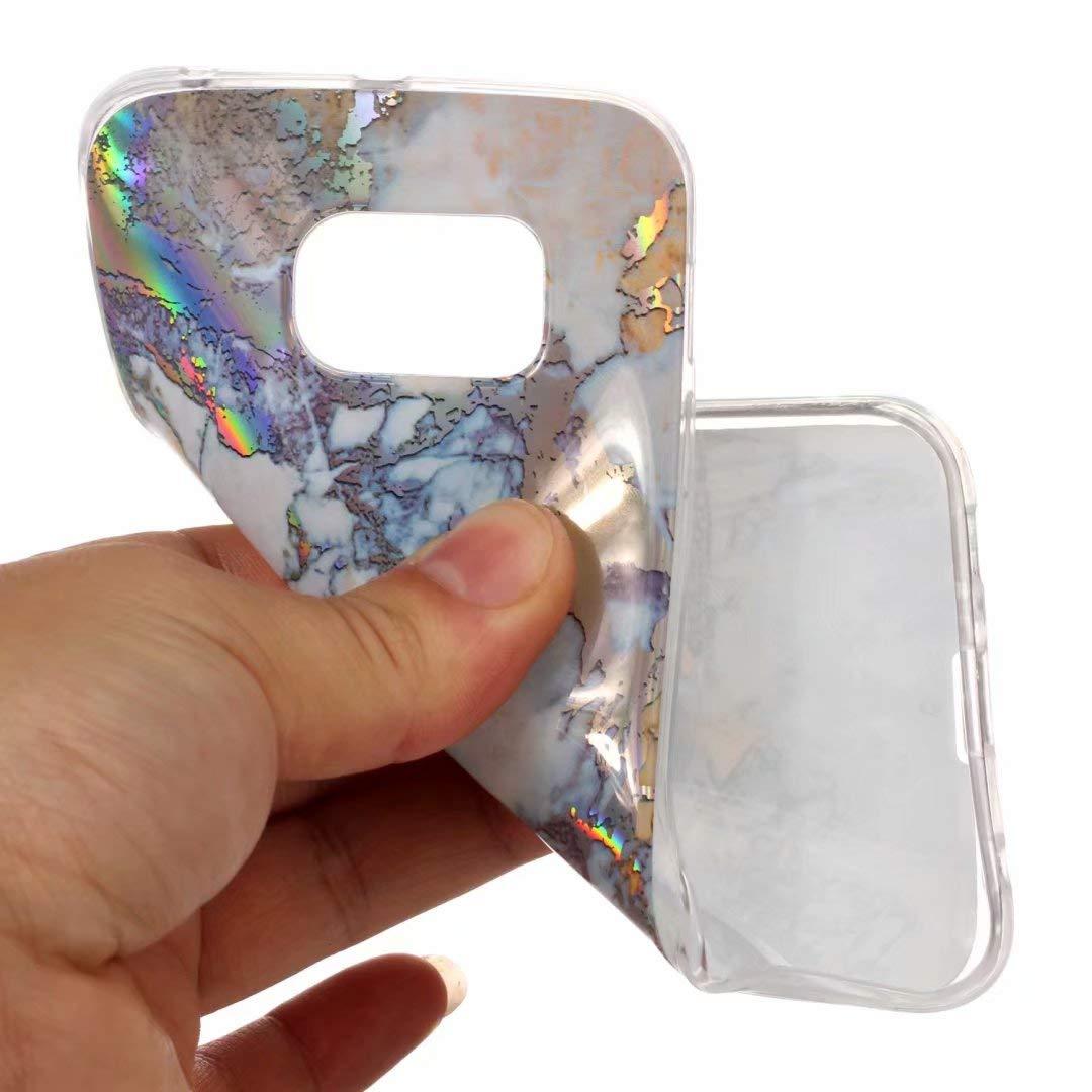 Cover HUAWEI P8Lite 2017 silicone marmo TPU super sottile morbido Gel Protettiva Conchiglia Custodia di JOYTAG