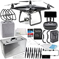 DJI Phantom 4 PRO+ PLUS Obsidian Edition Drone Quadcopter Includes Display (Black) Starters Aluminum Carrying Case Bundle