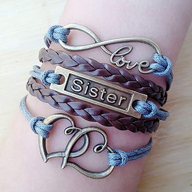 Sister Braided Faux Leather Br...
