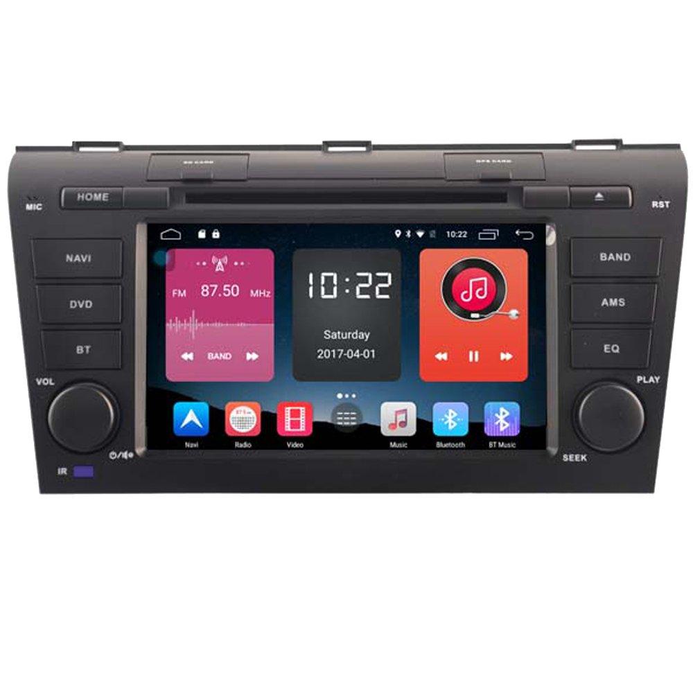autosion 7インチダッシュAndroid 6.0で車DVDプレーヤーラジオヘッドユニットGPSナビゲーションマツダ3 2004 2005 2006 2007 2008 2009のステレオサポートBluetooth SD USBラジオOBD Wifi DVR 1080p B078GR9XJ3
