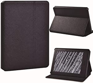 For Amazon Kindle 8/10th 2016 2019/Kindle Paperwhite 1/2/3/4 Printed Feather Leather Reader Stand Folio Cover Case,1.Black,Paperwhite 1 5th Gen