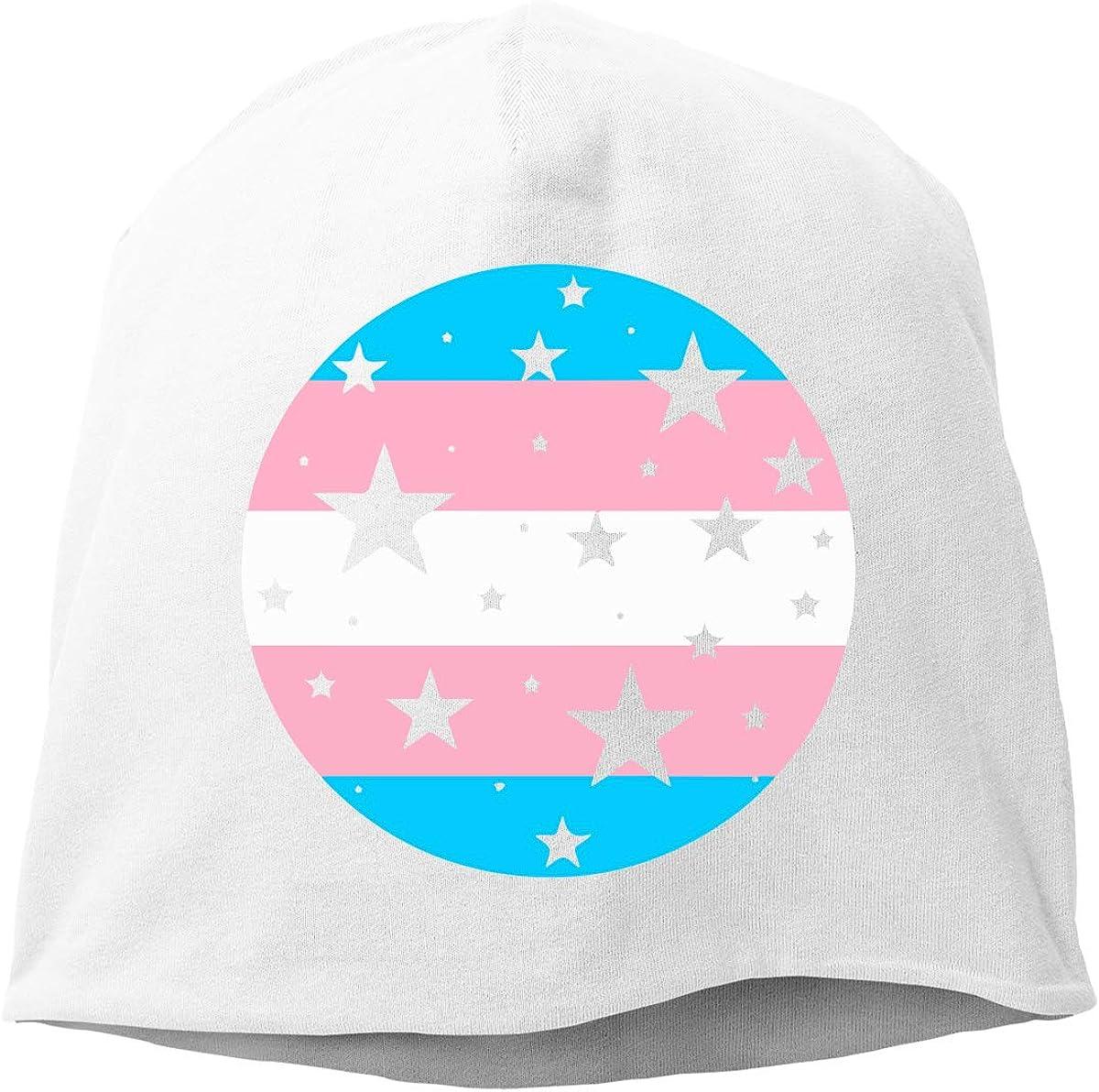 Winter Warm Daily Hat TLPM9LKMBM Trans Pride Stars Beanie Skull Cap for Women and Men