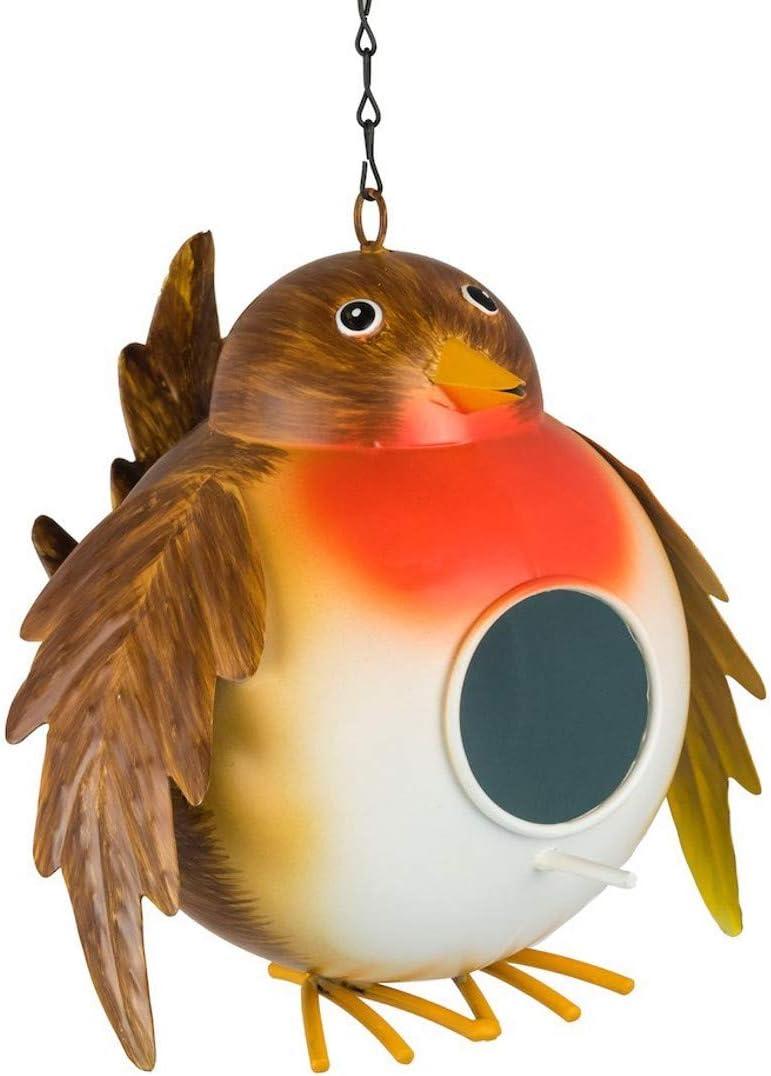 Fountasia - Comedero Colgante para pájaros, diseño de petirrojo: Amazon.es: Jardín