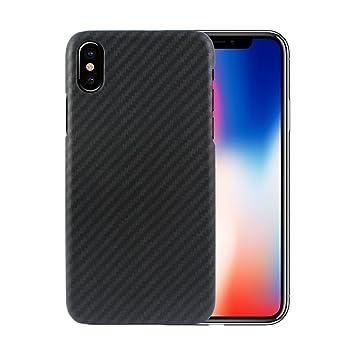 Funda iPhone X, FANSONG Ultra Ligero Funda Carcasa Fibra de Carbono La Textura Funda para Apple iPhone X