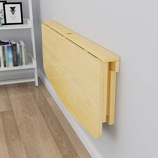 Mesa de escritorio plegable, madera maciza mesa de comedor de ...