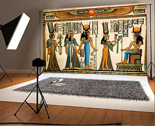- Laeacco 7x5FT Vinyl Photography Background Egyptian Mural Color Painting Drawing Pharaoh Scene Historic Culture Art Personal Shooting Backdrops Art Portraits Wedding Party Video Studio Props 2.2x1.5m