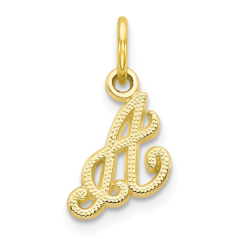 Mireval 14k Yellow Gold Initial Charm 1 x 5 mm