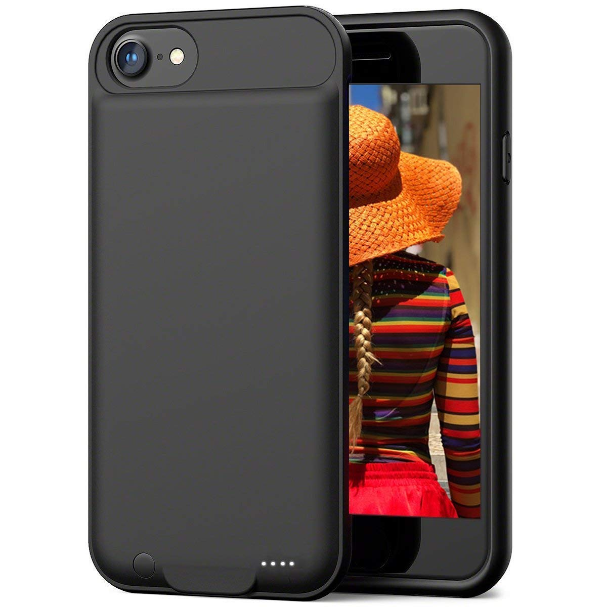 ZANYA Battery Case for iPhone 7, 3000mAH Rechargeable Case Protective Charging Battery Case Portable Charger Extended Battery for iPhone 7/8 Black (4.7 inch)