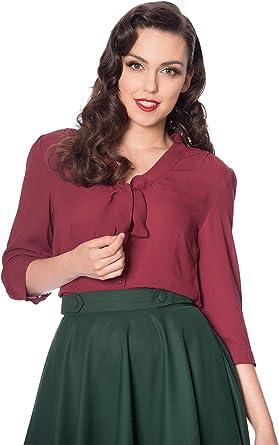Dancing Days Camisa Blusa Banned Pussybow Retro Vintage Rockabilly 1950: Amazon.es: Ropa y accesorios