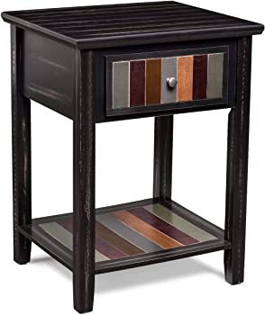 Xcsource Narrow End Table with Drawer and Storage Shelf