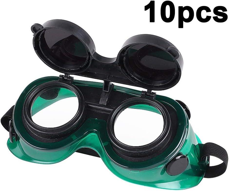 10Pcs Gafas De Soldadura Máscara De Ojos Gafas Gafas Antideslumbrantes para Soldar Soplete Soldadura Corte De Metales