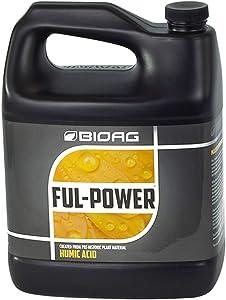 BioAg Ful-Power Liquid Organic Humic Acid Amendment - Fulpower Increases Yield in Hydroponics, Soil, Soilless Media - Plant Nutrient (1 gal)