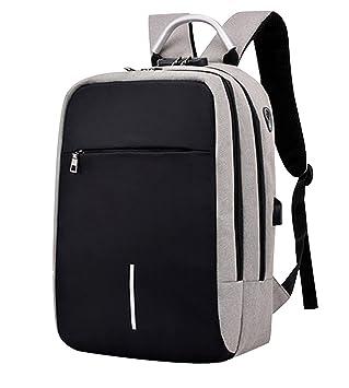 0d019e70af Sac à dos Ordinateur Portable Homme Sac a dos PC Multifonctionnel Sac à dos  Scolaire Collège avec USB Cartable ...