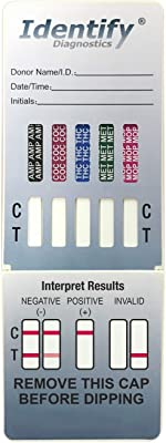 5 Pack Identify Diagnostics 5 Panel Drug Test Dip - Testing