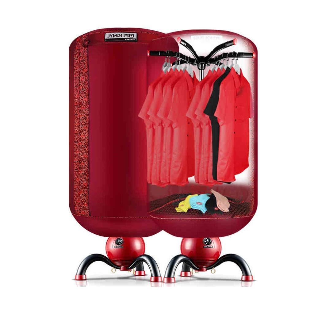 Asciugatrice - asciugatrice non porosa in tessuto Asciugamani da intimo 900W doppio armadio circolare a disinfezione pieghevole silenzioso timer muto / protezione di sicurezza /& ( Colore : Red ) Yuan Yuan SHOP