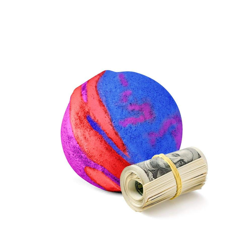 Cash Money Bath Bombs   Jumbo Size, 7.5oz   $2-$2500 Inside   Guaranteed Rare $2 Bill   Large Mystery Surprise Gift   (Rainbow Magic)